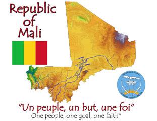 Mali Africa national emblem map symbol motto