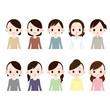 中年の女性 10人
