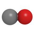 Carbon monoxide (CO) molecule, chemical structure