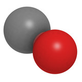 Carbon monoxide (CO) molecule, chemical structure