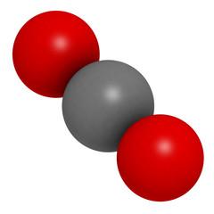 carbon dioxide (CO2) molecule, chemical structure