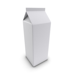 3d Large milk carton top view