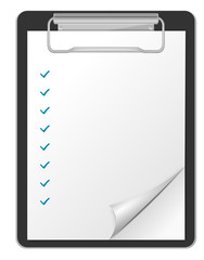Klemmbrett Checkliste