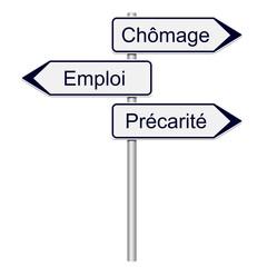 Panneaux chômage, emploi, précarité
