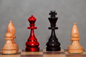 Große Koalition auf dem Schachbrett