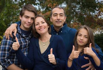 famille au complet