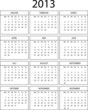 Kalender 2013 incl. Kalenderwochen
