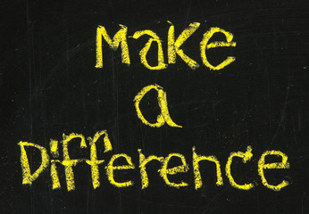 make a difference phrase on blackboard