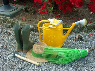 Utensilios de jardinería.herramientas para el jardín.