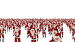 Santa Claus Crowd Dacing, Christmas Party cam fly over