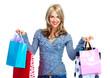 Beautiful shopping woman with bags.