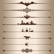 Decorative lines dividers. Vector illustration.