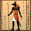 Постер, плакат: Ancient Egypt Anubis the jackal headed deity
