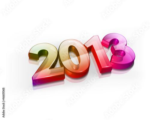 3d new year 2013, vector