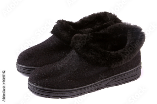 Men's Winter fur boots on white