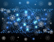 Christmas salute star and new year night background banner