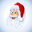 Cartoon Happy Santa Claus face EPS 10
