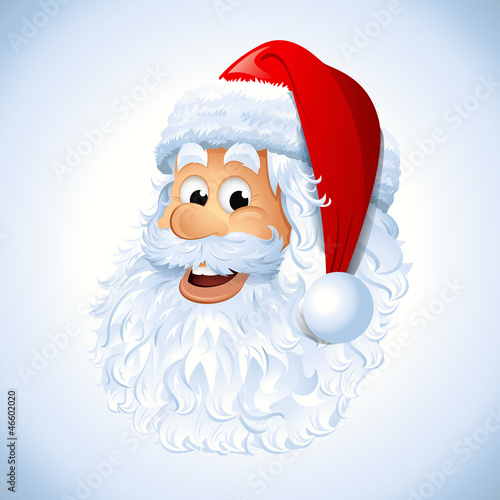 Cartoon Happy Santa Claus face EPS 10