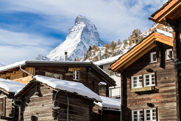 Matterhorn in der Schweiz, Zermatt