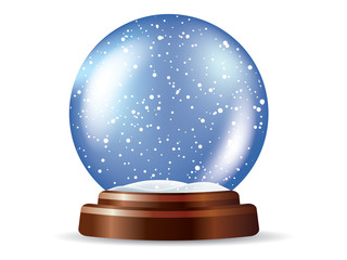 Empty Snow globe - place your object