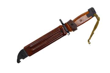 Bayonet in scabbard