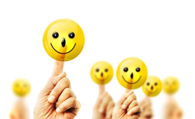 Smileys - Berühren, Zufriedenheit, Freude