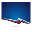 Abstract color background Russian flag vector