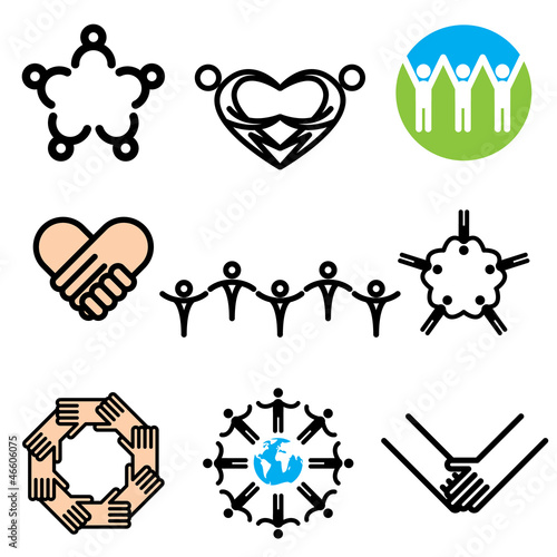 unity hand drawn icons in vector