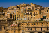 Houses in the sunlight, city of Valletta, Malta, Europe