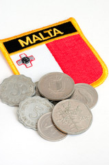 malta flag and lira