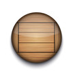 Vector circle wooden app icon on white background. Eps10