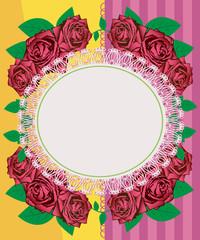 Greeting card - pink roses