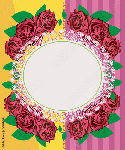 Greeting card - pink roses