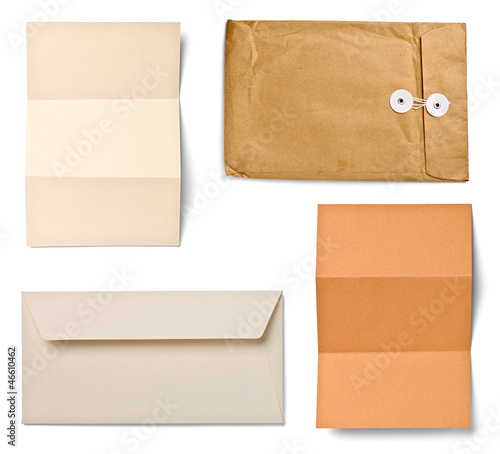 grunge note paper envelope