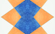 tiles in blue, orange and white, seamless