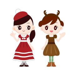 クリスマス 衣装 サンタ風ドレス トナカイ