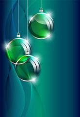 Christmas background with christmas decorations