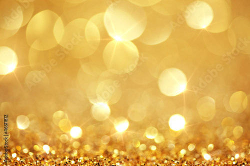 canvas print picture Shiny golden lights