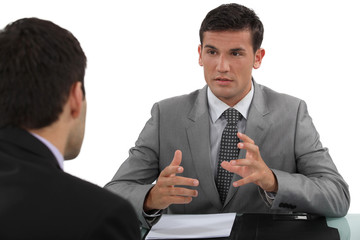 Businessman in interview