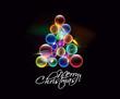 colorful christmas tree, design, vector illustration.