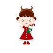 クリスマス衣装 喜ぶ女の子