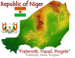 Niger Africa national emblem map symbol motto