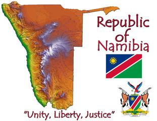 Namibia Africa national emblem map symbol motto
