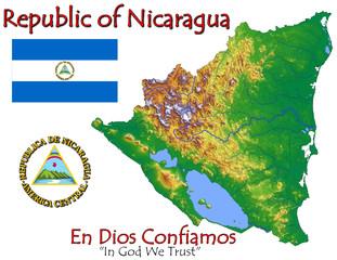 Nicaragua Central America national emblem map symbol motto
