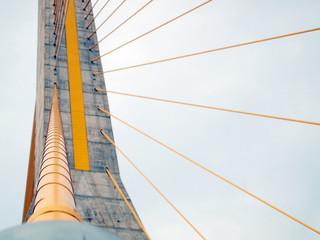 Rope bridge in thailand