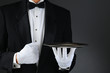 Waiter With Silver Tray