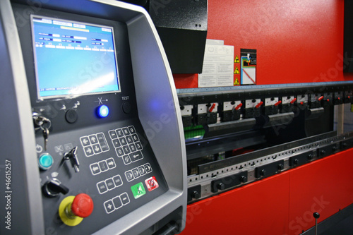 control panel of CNC press brake machine