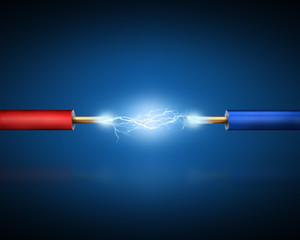 Electrical discharge between two conductors