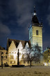 Evening view of New Town Hall in Prague, Czech Republic