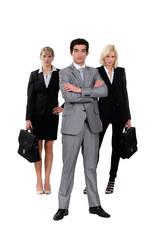 Confident business-team